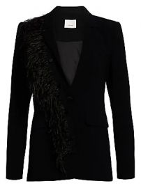 Cinq    Sept - Portia Feather Blazer at Saks Fifth Avenue