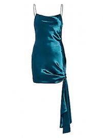 Cinq    Sept - Ryder Satin Mini Dress at Saks Fifth Avenue