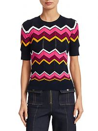 Cinq    Sept - Zariash Knit Chevron Sweater at Saks Off 5th