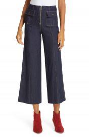 Cinq    Sept Azure Crop Wide Leg Jeans   Nordstrom at Nordstrom