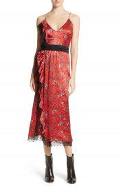 Cinq    Sept Petra Silk Midi Dress at Nordstrom