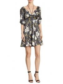 Cinq   Sept - Anders Printed Silk Dress at Saks Fifth Avenue