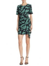 Cinq   Sept - Bia Palm Print Dress at Saks Fifth Avenue