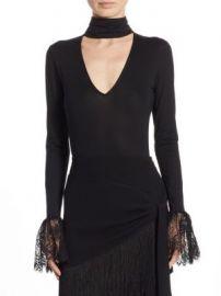 Cinq   Sept - Elara Long Sleeve Bodysuit at Saks Fifth Avenue