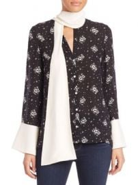 Cinq   Sept - Stardust Rowan Silk Floral Top at Saks Off 5th