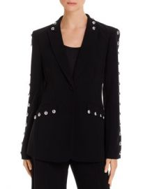 Cinq  amp agrave  Sept Dive Studded Single-Button Blazer Women - Bloomingdale s at Bloomingdales