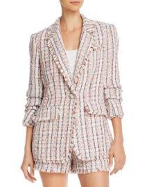 Cinq  amp agrave  Sept Khloe Frayed Tweed Blazer Women - Bloomingdale s at Bloomingdales
