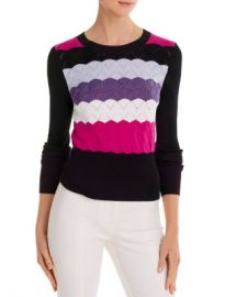 Cinq  amp agrave  Sept Skylar Scalloped-Knit Sweater Women - Bloomingdale s at Bloomingdales