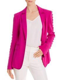 Cinq  amp agrave  Sept Vivi Satin-Trimmed Button Accent Blazer Women - Bloomingdale s at Bloomingdales