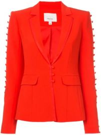 Cinq A Sept Button Embellished Fitted Blazer - Farfetch at Farfetch