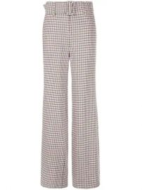 Cinq A Sept Checked Eliza Trousers - Farfetch at Farfetch