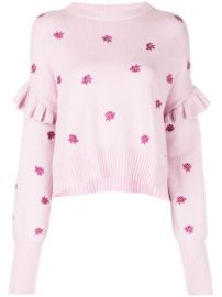 Cinq A Sept Lorelei Floral Embroidered Jumper - Farfetch at Farfetch