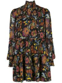 Cinq A Sept Rika Floral Print Dress - Farfetch at Farfetch