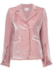 Cinq A Sept Velvet Ruffled Blazer  525 - Buy Online - Mobile Friendly  Fast Delivery  Price at Farfetch