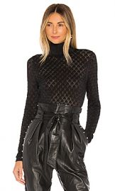 Cinq a Sept Lilette Turtleneck in Black Metallic from Revolve com at Revolve
