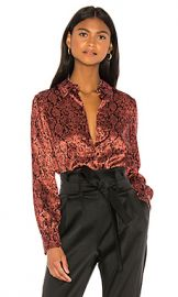 Cinq a Sept Python Blouse in Rosewood from Revolve com at Revolve
