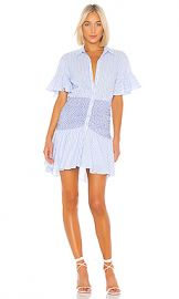 Cinq a Sept Stripe Asher Dress in Oxford Blue Multi from Revolve com at Revolve