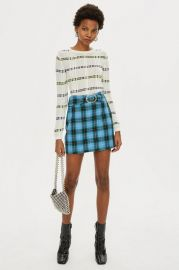 Circle Buckle Check Mini Skirt - Skirts - Clothing at Topshop