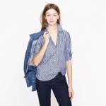 Circle print chambray popover by J Crew at J. Crew