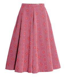 Circle skirt in pink at H&M