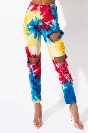 Circus Tie Dye High Rise Straight Leg Jeans by Akira Label at Shop Akira