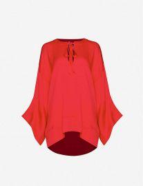 Ciro flared silk-satin blouse at Selfridges