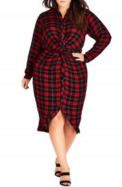 City Chic Twister Shirtdress  Plus Size at Nordstrom