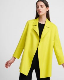 Clairene Jacket In Double-Face Wool-Cashmere at Theory