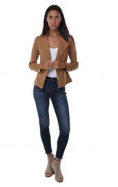 Clara Sunwoo Jackets Vegan Leather Asymmetrical Zip Up Edgy Moto Jack at Amazon