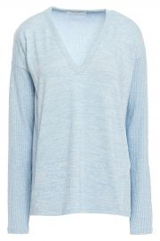 Clara mélange jersey sweater at The Outnet