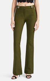 Clasp-Detailed Cotton Twill Slim Flared Trousers at Barneys Warehouse