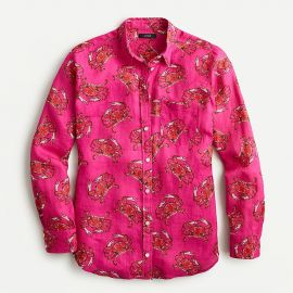Classic-Fit Boy Shirt in Ratti King Crab Print by J. Crew at J. Crew