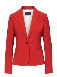Classic-Fit Machine-Washable Italian Wool Blend Blazer in Hot Red at Banana Republic