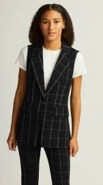 Classic Grid Plaid Vest at Argent