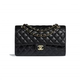 Classic Handbag Grained Calfskin & Gold-Tone Metal at Chanel
