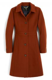 Classic Lady Italian Double Cloth Wool Blend Day Coat by J. Crew at Nordstrom