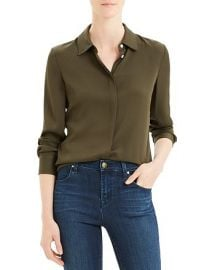 Classic Silk-Stretch Fitted Shirt at Bloomingdales