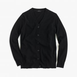 Classic V-Neck Cardigan Sweater in Black at J. Crew