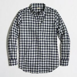 Classic boy shirt in navy check at J. Crew Factory