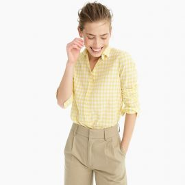Classic-fit boy shirt in crinkle gingham at J. Crew