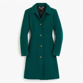 Classic lady day coat in Italian double-cloth wool at J. Crew