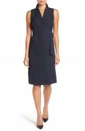 Classiques Entier   Sleeveless Belted Faux Wrap Dress at Nordstrom
