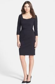 Classiques Entierand174 Seam Detail Ponte Dress in black at Nordstrom