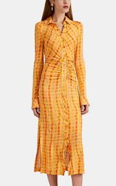 Claudia Ruched Gingham Dress at Barneys