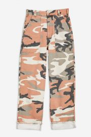 Clay Camouflage Trousers at Topshop