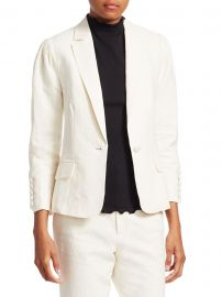 Clean Pleated Blazer at Saks Off Fifth
