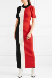 Clemence color-block stretch-knit dress by  Solace London at Net A Porter