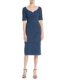 Cloque Jacquard Cocktail Dress by Jason Wu at Bergdorf Goodman