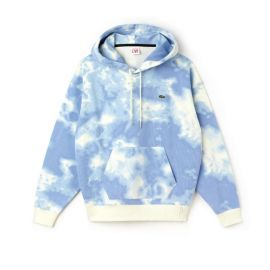 Cloud print hoodie by Lacoste at Lacoste