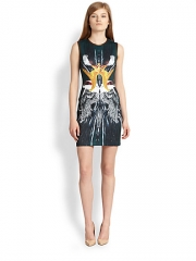 Clover Canyon - Wing-Print Neoprene Dress at Saks Fifth Avenue